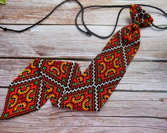 Ukrainian mens tie Ukrainian Embroidery Tie Handmade Tie Mens Gift Men Accessories Gift Wedding Accesories Ukrainian style Ukrainian jewelry