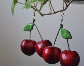 Double Cherry Earrings