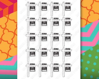 Realtor Planner Sticker Sheet for your Erin Condren Life Planner, Happy Planner, or any personal planner!