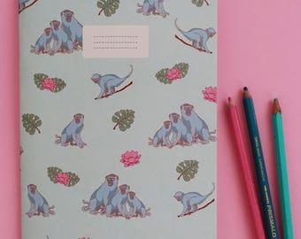 Monkeys notebook / memo book monkeys