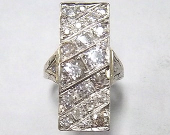 14kt. White Gold Diamond Vintage Estate Ring