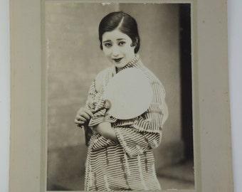 Japanese old photo, Yukata ( summer kimono) cloth Ad/catalog, ref10