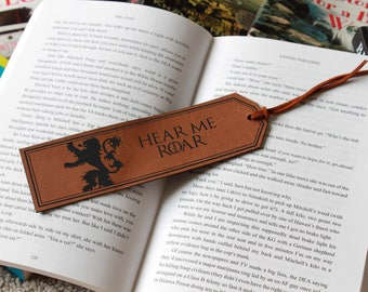 Game Of Thrones Bookmark, GOT Bookmark, Game Of Thrones Gifts, Personalized Bookmark Custom Bookmark Leather Bookmark --FXBM-RH-GOTLannister
