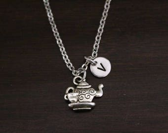 Teapot Necklace - Teapot Jewelry - Teapot Charm Gift - Tea Cup Necklace - Coffee Mug Necklace - Teapot Jewelry Necklace - Cafe Lover - I/B/H