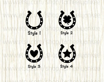 Horse Car Decal, Horse Decal,Horseshoe Decal,Lucky Horseshoe Decal,Horseback Riding Decal, Horse head Decal, Luck Decal, Horseshoe Decal