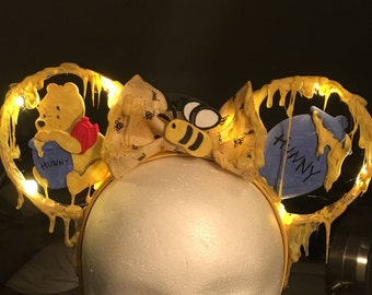 Winnie the Pooh bear Mickey Ears - Light up