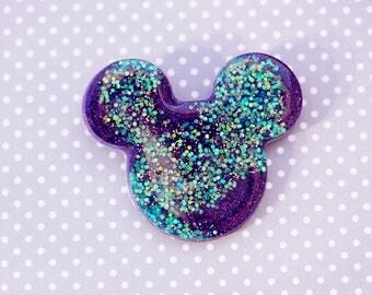 Swirly Glittery Mermaid Mickey Brooch