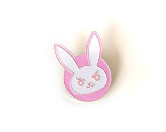 D.Va Rabbit Brass Enamel Pin