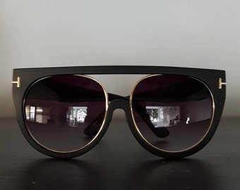 Reflective Lens Fashion Clear Sunglasses