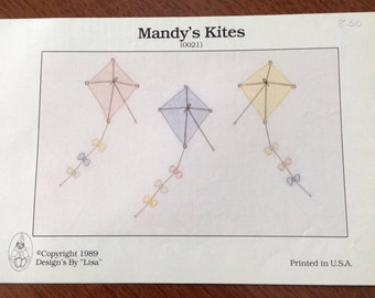 Shadow Stitching, Mandy's Kites Shadow Stitching,  vintage stitching, vintage pattern