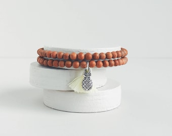 TROPICAL QUEEN Wood Jasper Gemstone Bracelet
