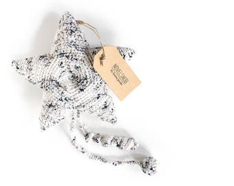 Soft baby toy, Crochet star, Baby gift, Cotton