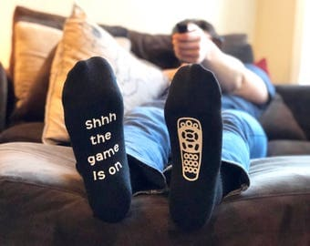 Game Day Socks - Gift for Him - Gift for Dad - Mens Sock - Funny Socks for Men - Gifts for Men - Mens Birthday - Novelty Gift - Fathers Day
