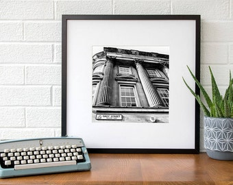 Grey Street print Newcastle upon Tyne black and white fine art photography Geordie gift-ideas Gift for men Man-gifts Gift-for-him men-gift