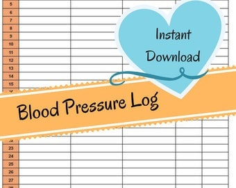 blood pressure and blood sugar log sheet