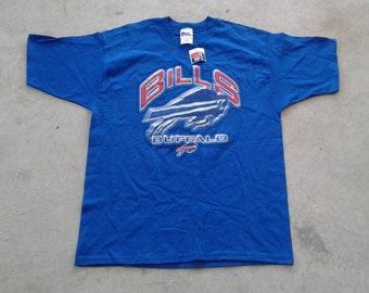 Deadstock 90's Buffalo Bills Pro Player vintage t-shirt blue large Made in USA