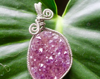 Raw Amethyst Cluster Wire Wrap