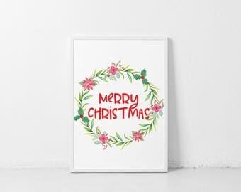 Christmas Wall Art, Christmas Printable, Christmas Decorations, Christmas Wall Decor