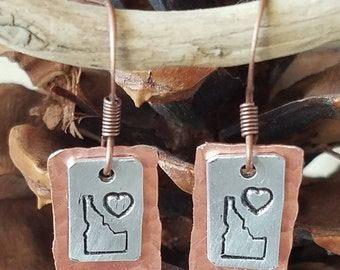 Let the sunshine in or show your love with this mixed metal handstamped Idaho design.