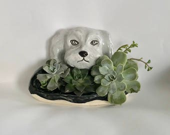 Handmade Dog Succulent Planter