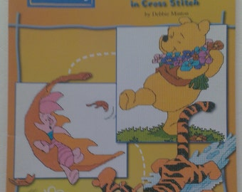 Winnie The Pooh Seasons in Cross Stitch Booklet by Debbie Minton Designer Stitches