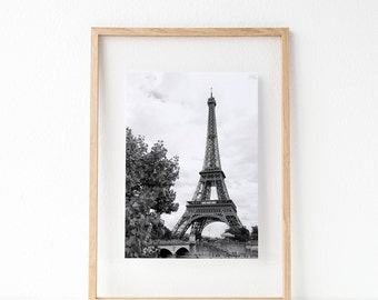 Eiffel Tower, Paris, Love, Travel, France, Digital Wall Art, Digital Prints, Photography, Digital Download, Black and White,