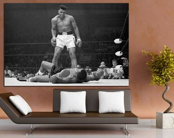 Muhammad Ali Boxing art Box art wall Box decor Motivation wall art Fitness gym workout Fitness gym Sports room art Sports on wall art Prints