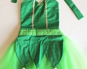 TINKERBELL COSTUME | Tinkerbell Dress | Dress Up Apron | Tinkerbell Birthday | Disney Inspired