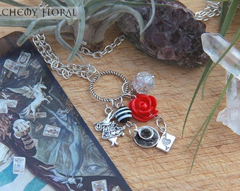 Alice in Wonderland Inspired Charm Necklace