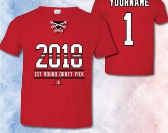 NJ Devils Shirt Personalized for Kids Toddlers Hockey NJ Devils Christmas Gift My 1st Hockey Game NJ Devils Birthday Gift Kids TShirt