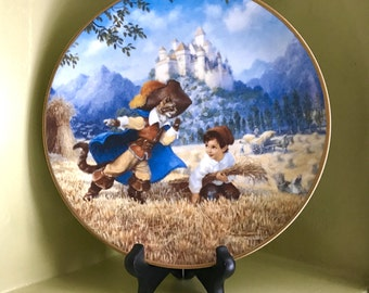 Puss in Boots Knowles Collector Plate - Classic Fairy Tales