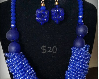 Handmade with local Africa  beads and seed beads