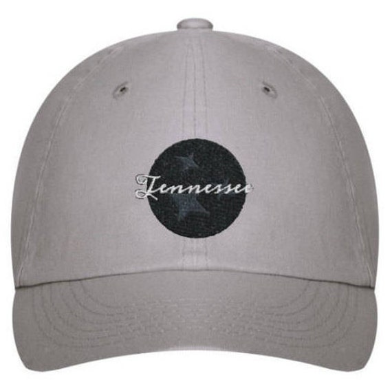 the capitol company 'Love for Tennessee' Unstructured Baseball Cap// Nashville Southern Activewear- Gray