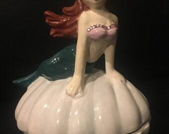 Ceramic Mermaid Jewelry Box