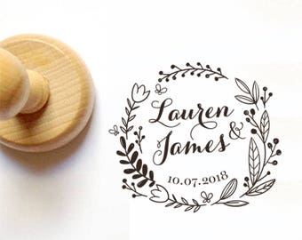 WEDDING STAMP, Custom WEDDING Stamp, Personalized Wedding Stamp, Invitation Stamp, Favor Wedding Stamp, Favor Stamp, Custom Favor Stamp