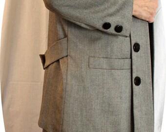 Kasper for A.S.L. Black Herringbone Skirt Suit