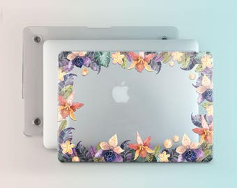 Orchid MacBook Case Pro MacBook Pro 13 2016 Case MacBook Air 13 Tropical Flowers MacBook Pro 13 2017 MacBook Pro 15 Case Mac Air 11 AND2015