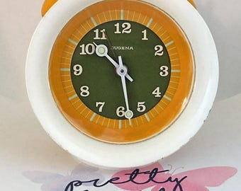 Pop art clock in the seventies Tulip/Panton style