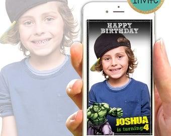 Hulk Geofilter // Hulk Birthday Geofilter // Marvel Snapchat // Avengers Snapchat  // snapchat geofilter kids // Hulk Theme Snapchat