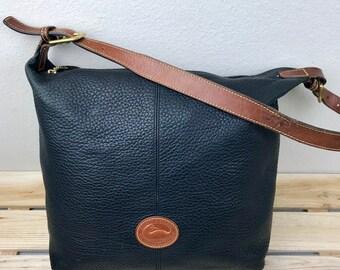 Dooney & Bourke Pebbled Leather Hobo Shoulder Bag AWL