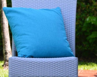 """Turquoise Blue Throw Pillow Cover /Decorative Throw Pillow Cover 20""""X 20"""" / Throw Pillow Cover for Indoor or Outdoor."""