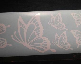Monarch butterflies decals