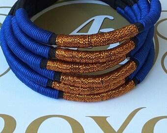 African fashion statement choker 6 tube