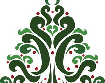 Abstract Tree Cross Stitch Pattern