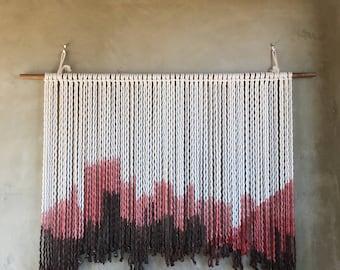 Red desert wall hanging