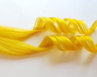 Clip In Hair Extensions, Yellow Hair, Mermaid Hair, Unicorn Hair, Ombre Hair, Human Hair Extensions, Teal Hair, Hair Weave, Festival Hair
