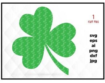 Shamrock SVG, Saint Patrick's DaySvg, Clover SVG, Silhouette Cut Files, Cricut Cut Files, Svg Files, SVG for Cricut & SIlhouette