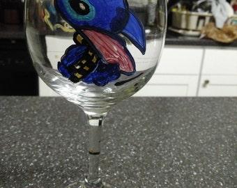 Customized Hand Painted Fanart Wine Glass