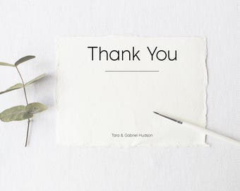 Thank You Card Template, Wedding Thank You Template, Wedding Thank You Cards Printable, Wedding Thankyou Cards, Printable Thank You Cards