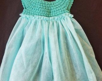 Crochet Tulle Dress